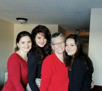 Carmen, Betinia, Nancy, Anca-Christmas 2016