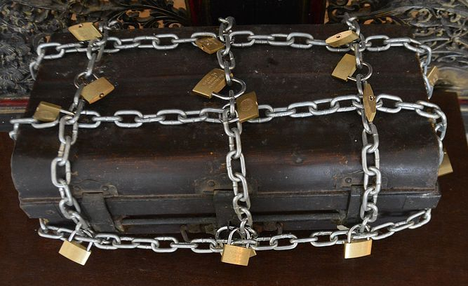 Box chained