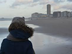 Woman alone winter